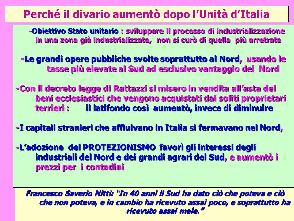 Perché+il+divario+aumentò+dopo+l_Unità+d_Italia